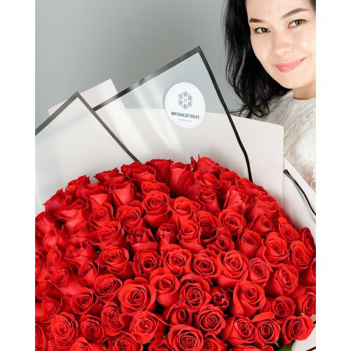 Купить на заказ Заказать Букет из 101 красной розы с доставкой по Аркалыку с доставкой в Аркалыке