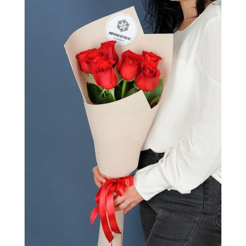 Купить на заказ Заказать Букет из 7 роз с доставкой по Аркалыку с доставкой в Аркалыке