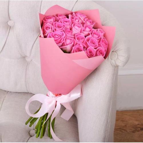 Купить на заказ Заказать Букет из 21 розовой розы с доставкой по Аркалыку с доставкой в Аркалыке