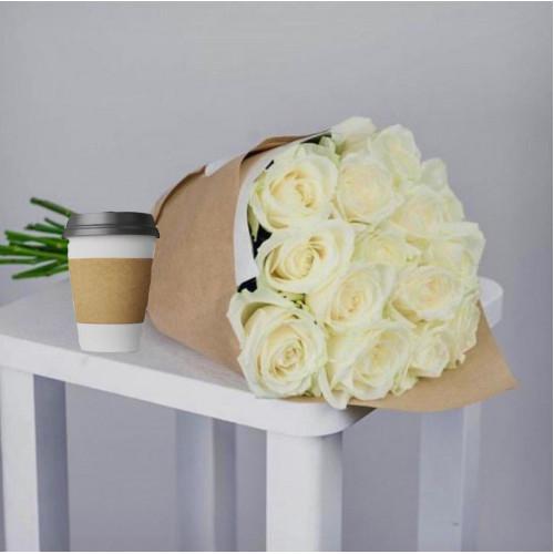 Купить на заказ Кофе с цветами с доставкой в Аркалыке