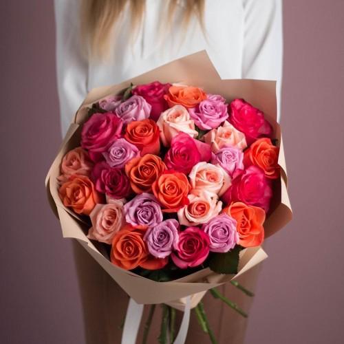 Купить на заказ Заказать Букет из 25 роз (микс) с доставкой по Аркалыку с доставкой в Аркалыке