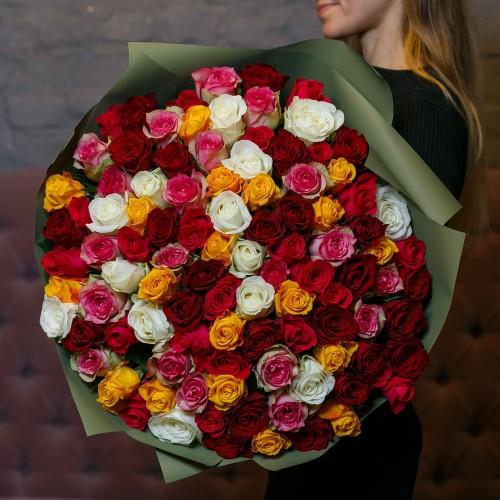 Купить на заказ Заказать Букет из 101 розы (микс) с доставкой по Аркалыку с доставкой в Аркалыке